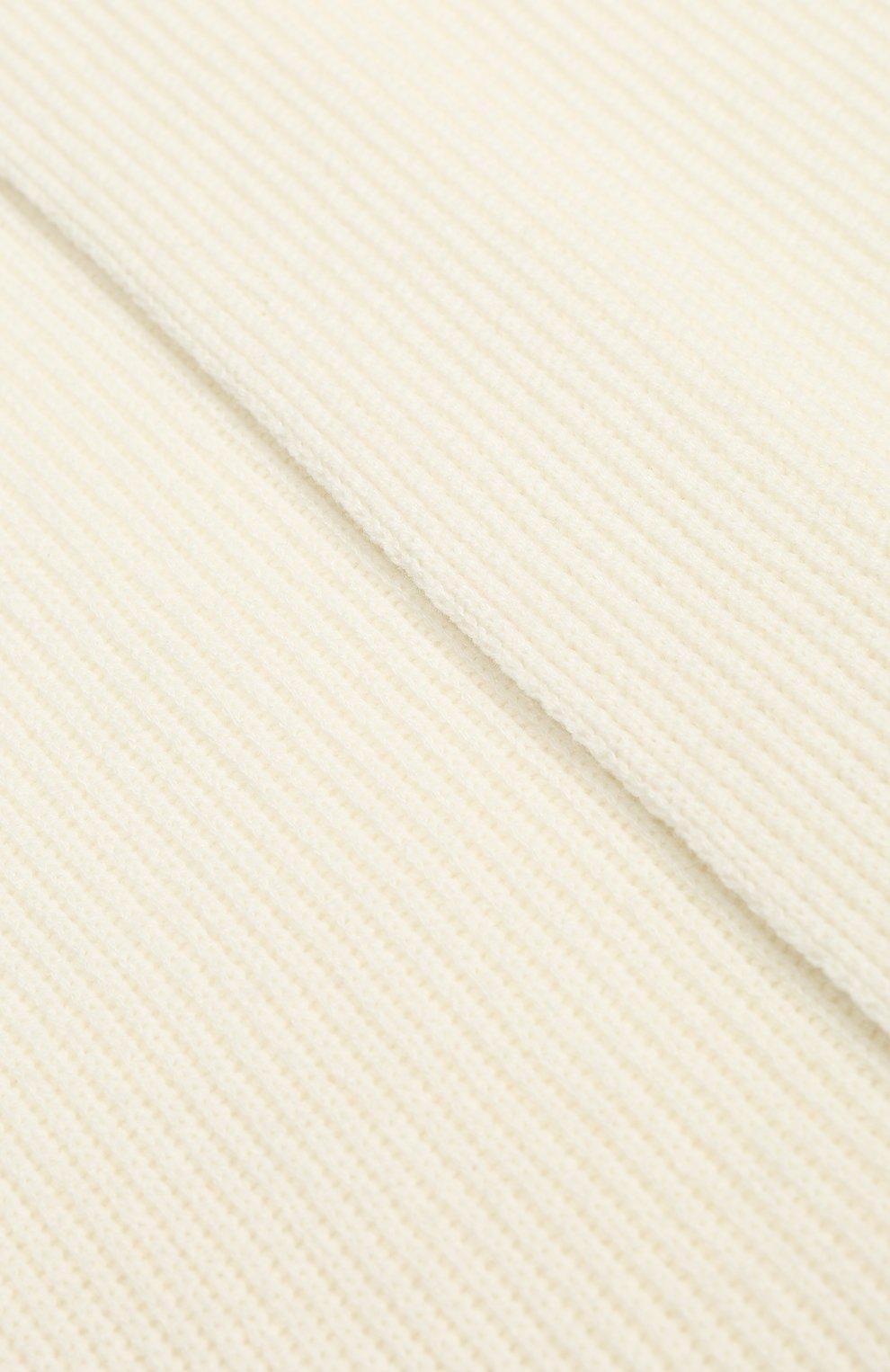 Женский кашемировый шарф JOHNSTONS OF ELGIN белого цвета, арт. HAA01684/W | Фото 2