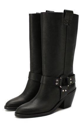 Женские кожаные сапоги SEE BY CHLOÉ черного цвета, арт. SB33026A/10140 | Фото 1