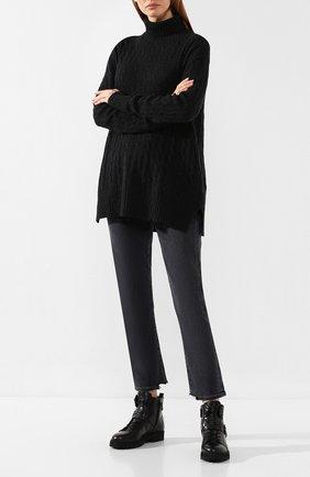 Женские кожаные ботинки TOD'S черного цвета, арт. XXW95B0BX54NB6 | Фото 2