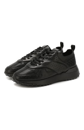 Женские кожаные кроссовки TOD'S черного цвета, арт. XXW80A0W592JUS | Фото 1