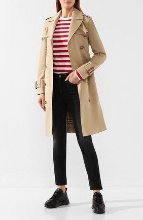 Женские кожаные кроссовки TOD'S черного цвета, арт. XXW80A0W592JUS | Фото 2