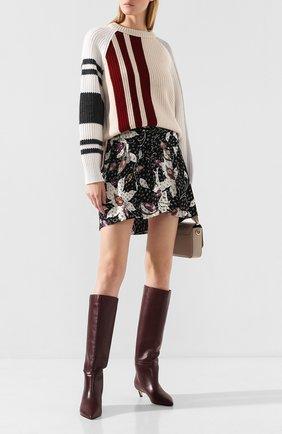 Женские кожаные сапоги maxima 35 JIMMY CHOO бордового цвета, арт. MAXIMA 35/CLF | Фото 2