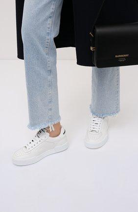 Женские кожаные кеды miami DOLCE & GABBANA белого цвета, арт. CK1648/AA617 | Фото 2