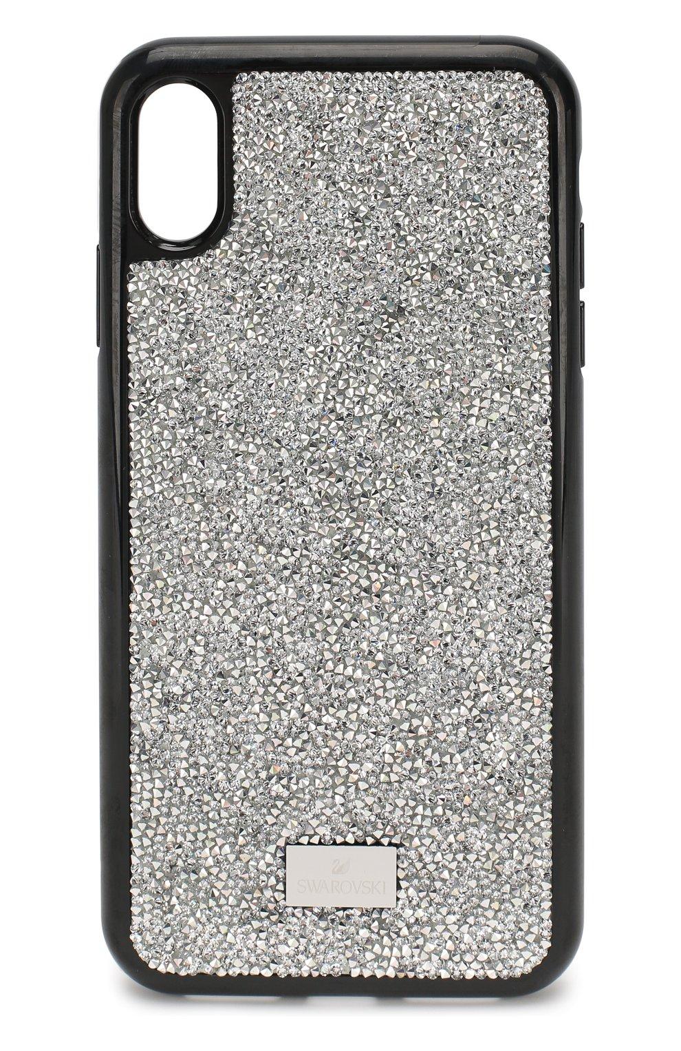 Мужской чехол для iphone xs max SWAROVSKI серебряного цвета, арт. 5515013   Фото 1