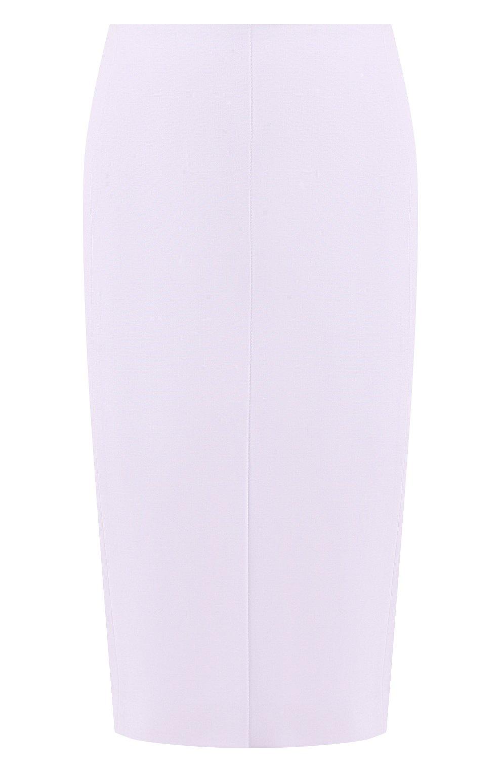 Женская шерстяная юбка BOSS светло-серого цвета, арт. 50411016 | Фото 1