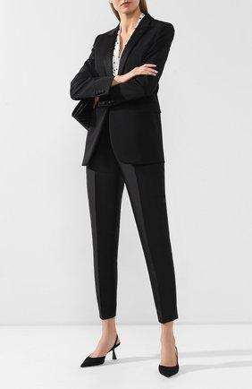 Женские брюки со стрелками STELLA MCCARTNEY черного цвета, арт. 587785/SFA07 | Фото 2