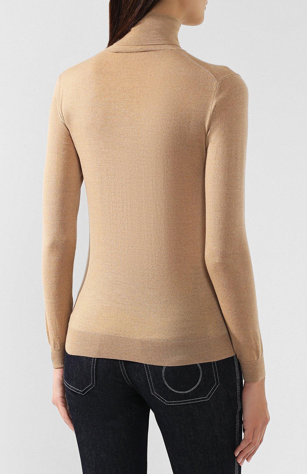 Женская шерстяная водолазка STELLA MCCARTNEY бежевого цвета, арт. 362828/S1735 | Фото 4