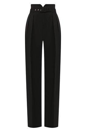 Женские брюки с поясом REDVALENTINO черного цвета, арт. SR0RB1A0/00J | Фото 1