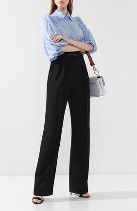 Женские брюки с поясом REDVALENTINO черного цвета, арт. SR0RB1A0/00J | Фото 2