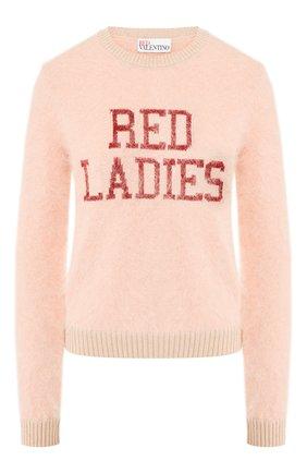 Женская свитер REDVALENTINO розового цвета, арт. SR0KCC04/4MW | Фото 1