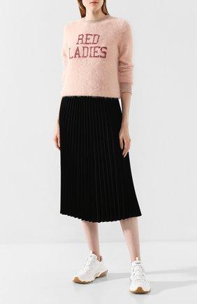 Женская свитер REDVALENTINO розового цвета, арт. SR0KCC04/4MW | Фото 2
