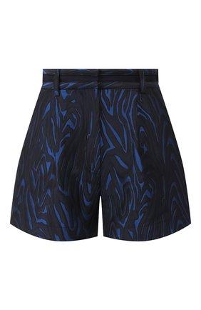 Женские шорты KENZO темно-синего цвета, арт. F962SH0475J4   Фото 1 (Длина Ж (юбки, платья, шорты): Мини; Материал внешний: Синтетический материал; Женское Кросс-КТ: Шорты-одежда)
