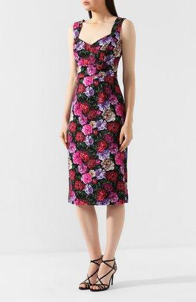 Платье из смеси хлопка и вискозы   Фото №3
