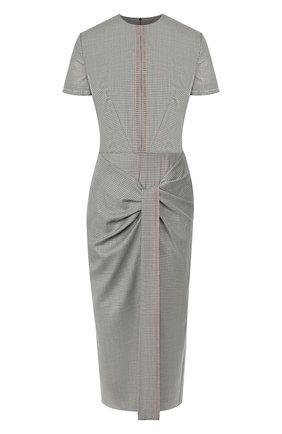 Женское платье из смеси шерсти и шелка ROLAND MOURET серого цвета, арт. PW19/S0736/F0297   Фото 1