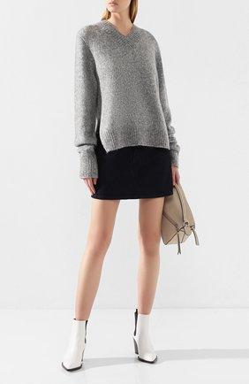 Женская шерстяной свитер HELMUT LANG серого цвета, арт. J07HW708 | Фото 2