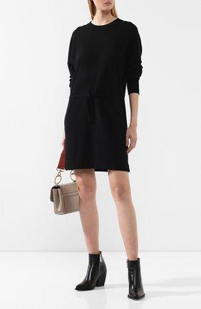 Женское кашемировое платье LE KASHA черного цвета, арт. JAPAN00 | Фото 2