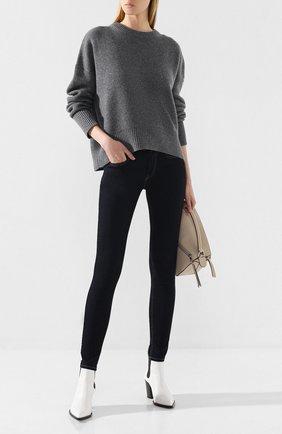 Женская кашемировый свитер LE KASHA серого цвета, арт. EVREUX0   Фото 2