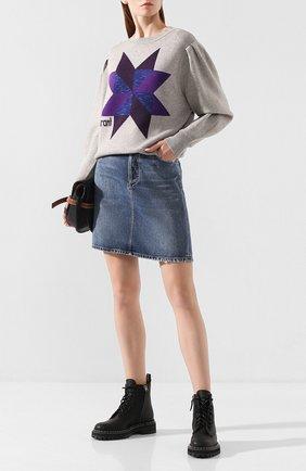 Женская пуловер ISABEL MARANT ETOILE серого цвета, арт. PU1046-19A055E/KYALL   Фото 2