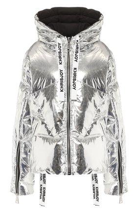 Женский пуховая куртка KHRISJOY серебряного цвета, арт. AFPW001/NYMT | Фото 1
