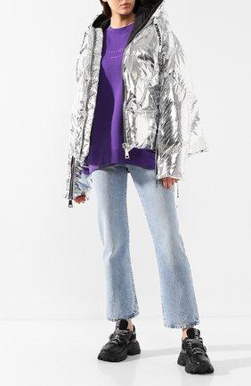 Женский пуховая куртка KHRISJOY серебряного цвета, арт. AFPW001/NYMT | Фото 2