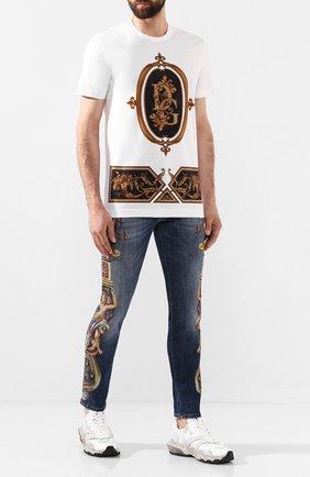 Мужские джинсы DOLCE & GABBANA синего цвета, арт. GYC4LD/G8BM5   Фото 2
