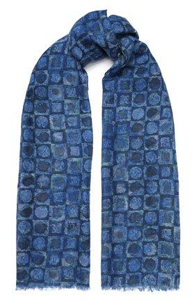 Мужской кашемировый шарф KITON синего цвета, арт. USCIACX02S61 | Фото 1