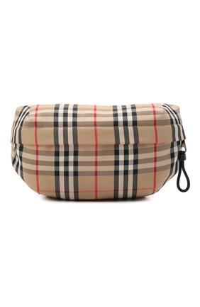 Мужская текстильная поясная сумка BURBERRY бежевого цвета, арт. 8010430 | Фото 1