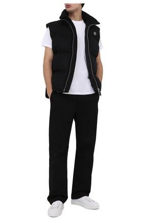 Мужская хлопковая футболка BURBERRY белого цвета, арт. 8014021 | Фото 2