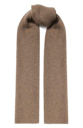 Мужской кашемировый шарф JOHNSTONS OF ELGIN темно-бежевого цвета, арт. HAA01684/M | Фото 1