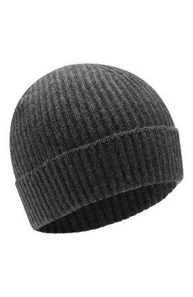 Мужская кашемировая шапка JOHNSTONS OF ELGIN темно-серого цвета, арт. HAE01941/M | Фото 1