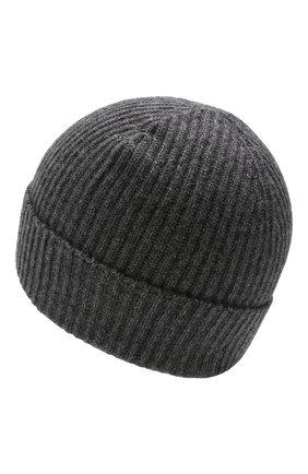 Мужская кашемировая шапка JOHNSTONS OF ELGIN темно-серого цвета, арт. HAE01941/M | Фото 2