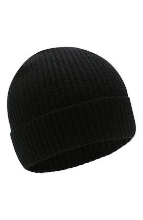 Мужская кашемировая шапка JOHNSTONS OF ELGIN черного цвета, арт. HAE01941/M | Фото 1