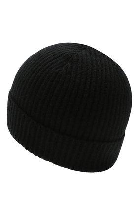 Мужская кашемировая шапка JOHNSTONS OF ELGIN черного цвета, арт. HAE01941/M | Фото 2