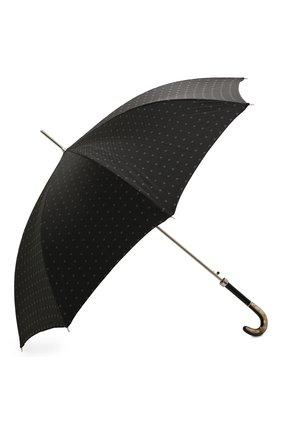 Мужской зонт-трость PASOTTI OMBRELLI черного цвета, арт. 478/RAS0 6279/1/N60 | Фото 2