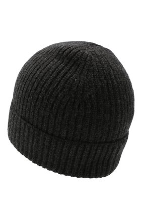 Мужская шапка из шерсти и кашемира DANIELE FIESOLI темно-серого цвета, арт. DF 8010 | Фото 2