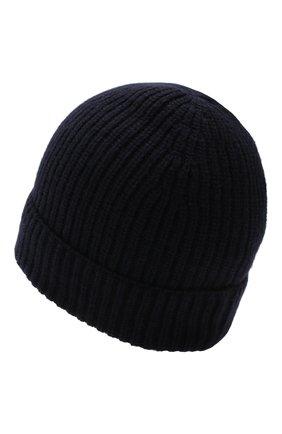 Мужская шапка из шерсти и кашемира DANIELE FIESOLI темно-синего цвета, арт. DF 8010 | Фото 2