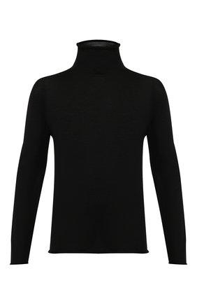 Мужской шерстяная водолазка ISABEL BENENATO черного цвета, арт. UK02F19 | Фото 1