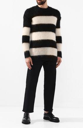 Мужской свитер ISABEL BENENATO черно-белого цвета, арт. UK111F19 | Фото 2