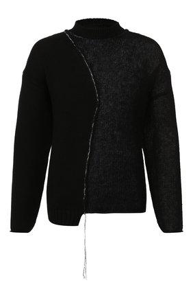 Мужской свитер ISABEL BENENATO черного цвета, арт. UK21F19 | Фото 1