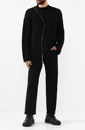 Мужской свитер ISABEL BENENATO черного цвета, арт. UK21F19 | Фото 2