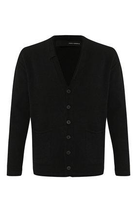 Мужская шерстяной кардиган ISABEL BENENATO черного цвета, арт. UK82F19 | Фото 1