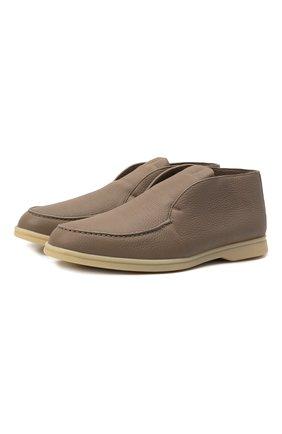 Мужские кожаные ботинки open walk LORO PIANA бежевого цвета, арт. FAI3276 | Фото 1
