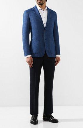 Мужской кашемировый пиджак ALTEA голубого цвета, арт. 1962052   Фото 2