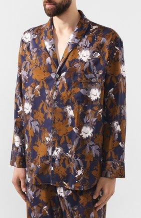 Мужская хлопковая пижама ZIMMERLI темно-синего цвета, арт. 4739-75013 | Фото 2