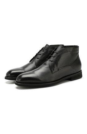 Мужские кожаные ботинки BARRETT черного цвета, арт. 192U094.1/C0RSAR0 | Фото 1