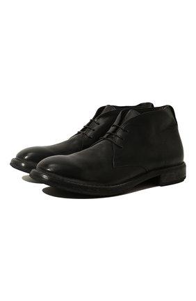 Мужские кожаные ботинки MOMA черного цвета, арт. 2BW006-CU | Фото 1