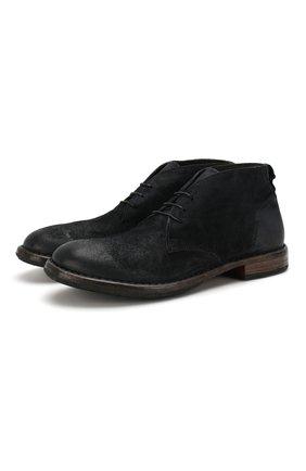 Мужские замшевые ботинки MOMA темно-синего цвета, арт. 2BW006-BE | Фото 1