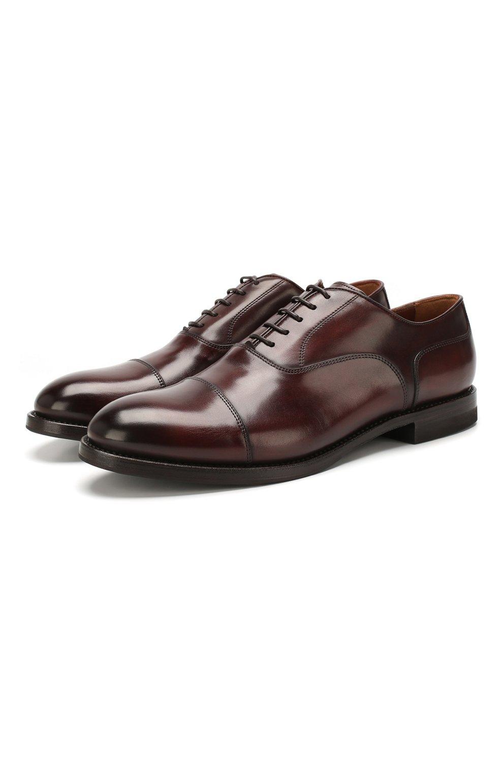 Мужские кожаные оксфорды W.GIBBS коричневого цвета, арт. 0337003/1920 | Фото 1