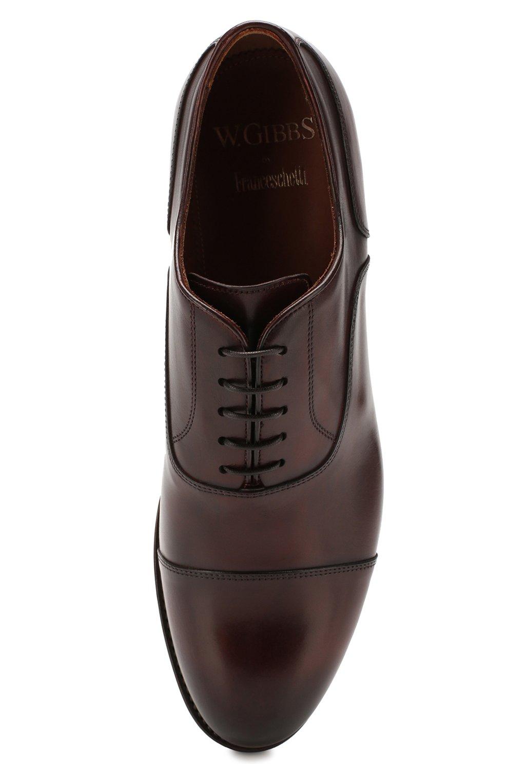 Мужские кожаные оксфорды W.GIBBS коричневого цвета, арт. 0337003/1920 | Фото 5