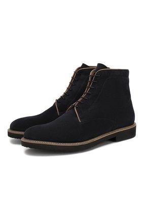 Мужские замшевые ботинки MORESCHI темно-синего цвета, арт. 42380/162 | Фото 1